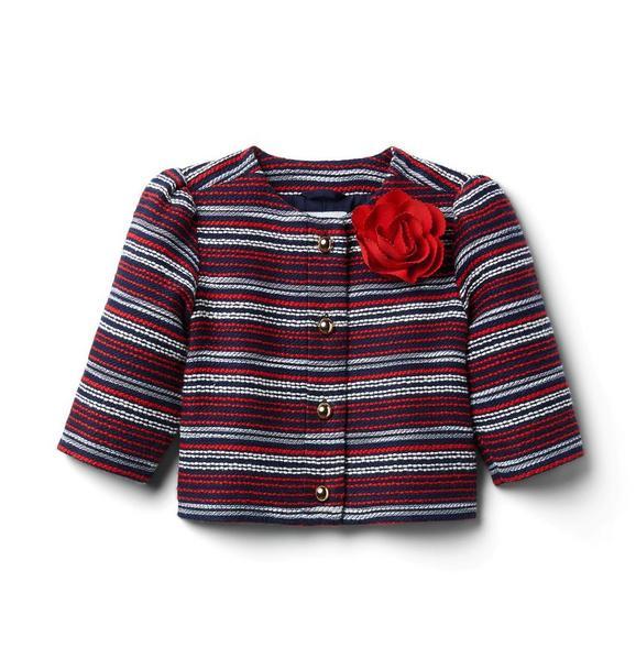 Bouclé Flower Jacket