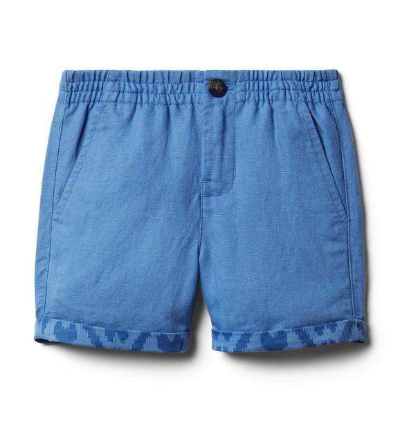 Ikat Hem Linen Shorts