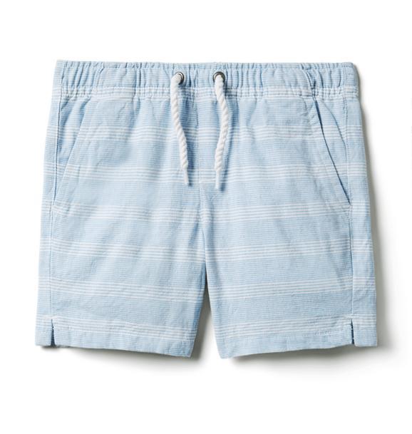 Striped Linen Pull-On Shorts
