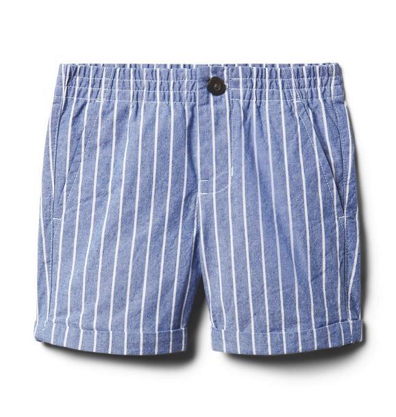 Striped Poplin Short