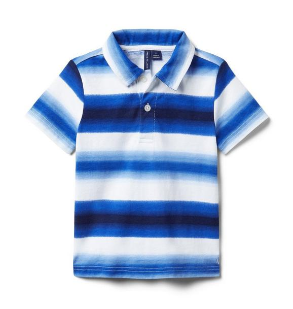 Ombre Striped Jersey Polo