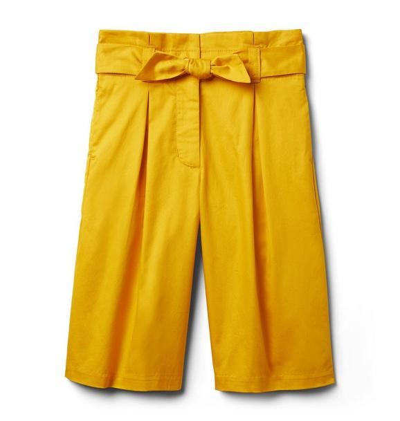 Tie Belt Wide Leg Pant
