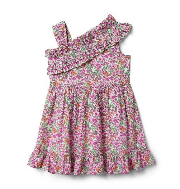Ditsy Floral Ruffle Cold Shoulder Dress