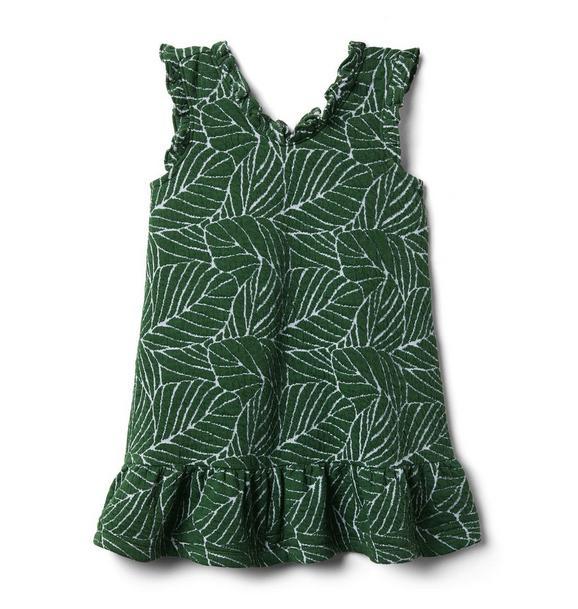 Leaf Ruffle Trim Dress
