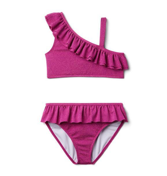 Striped Lurex 2-Piece Swimsuit