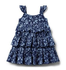 Floral Tiered Ruffle Dress