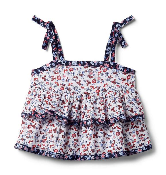 Ditsy Floral Tiered Top