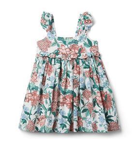 Floral Flutter Strap Dress