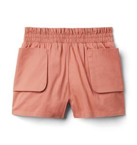 Patch Pocket Smocked Short