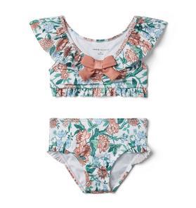 Floral Bow 2-Piece Swimsuit