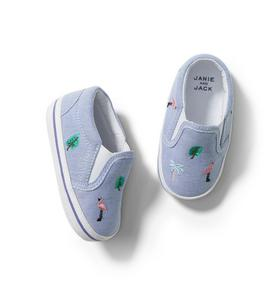 Baby Embroidered Slip-On Sneaker