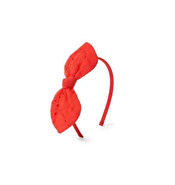 Eyelet Bow Headband