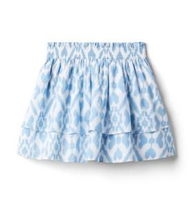 Ikat Tiered Skirt