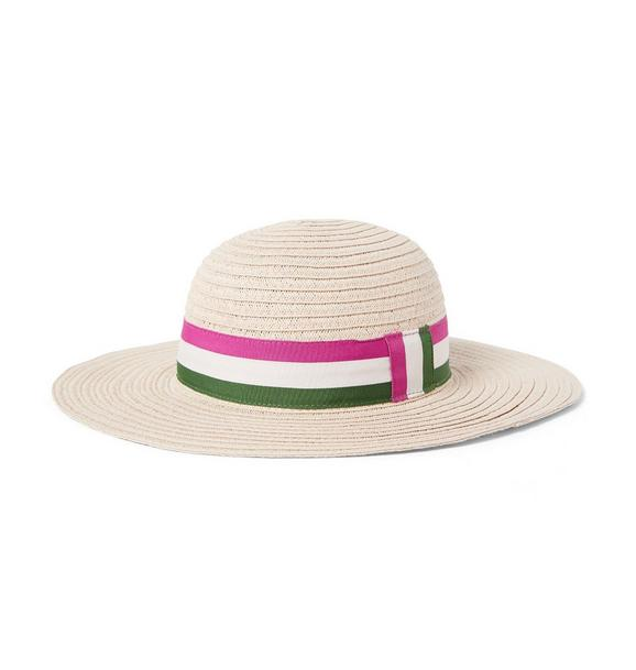 Straw Striped Sun Hat