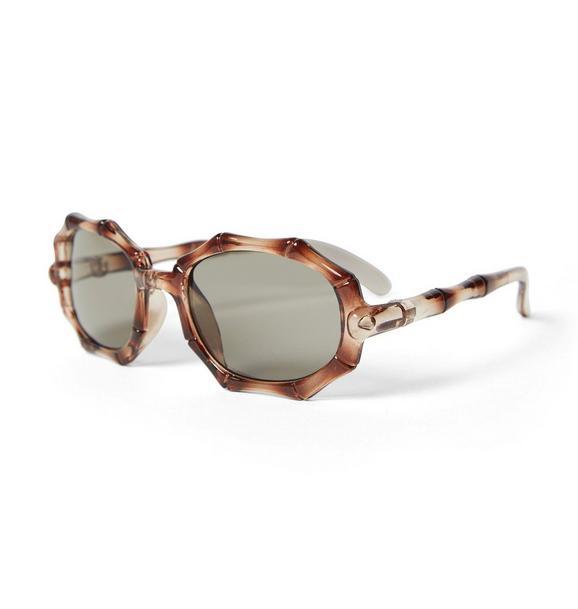 Bamboo Oval Sunglasses