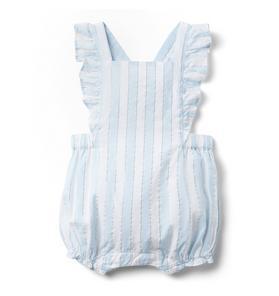 Baby Striped Ruffle Shortall
