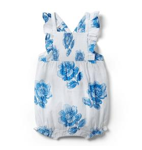 Baby Floral Swiss Dot Romper