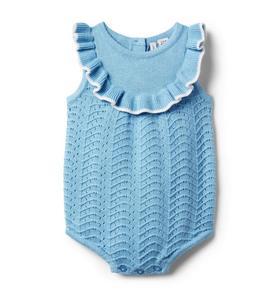 Baby Pointelle Sweater Romper