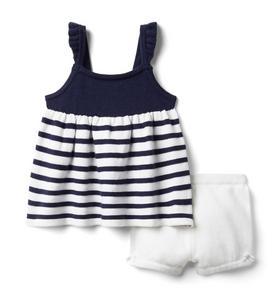 Baby Striped Sweater Matching Set
