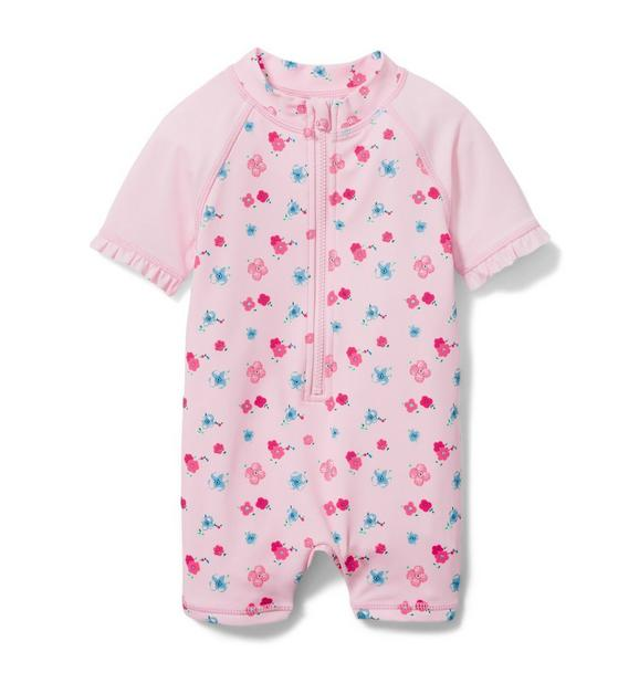 Baby Ditsy Floral Rash Guard Swimsuit