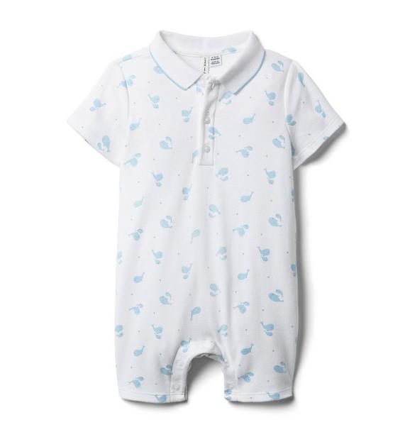 Baby Whale Polo Romper