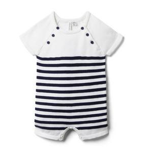 Baby Striped Sweater Romper