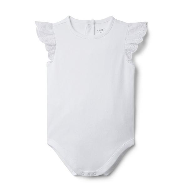 Baby Eyelet Sleeve Bodysuit
