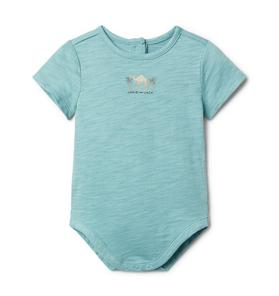 Baby Embroidered Camel Bodysuit