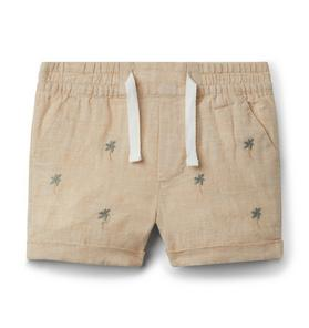 Baby Embroidered Palm Short