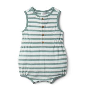 Baby Striped Terry Romper