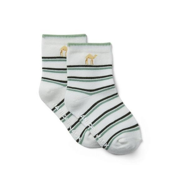 Baby Striped Camel Socks