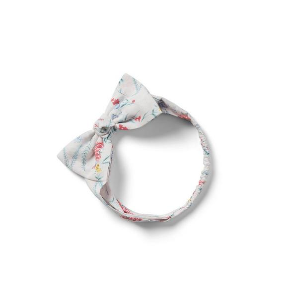 Baby Floral Bow Soft Headband