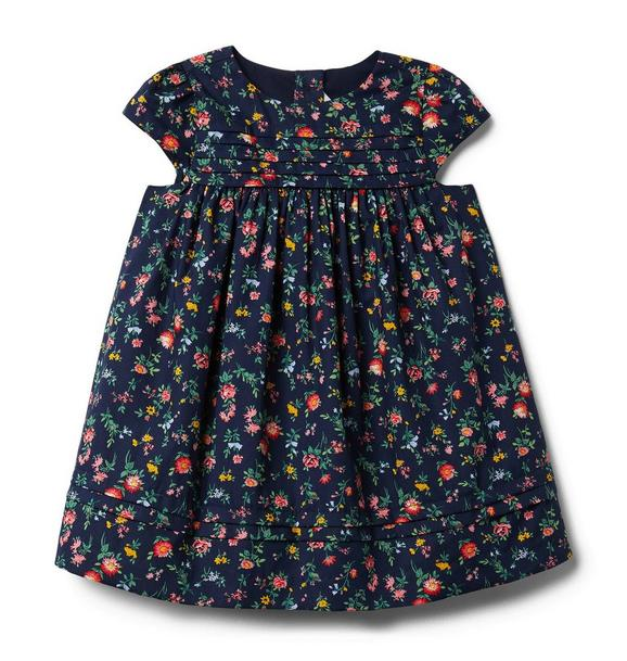 Baby Floral Pleated Dress