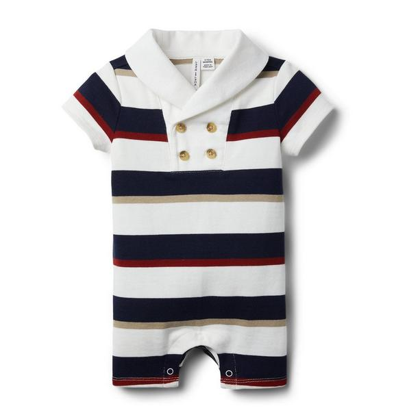 Baby Striped Rugby Romper