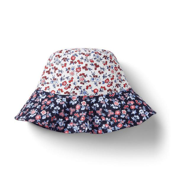 Ditsy Floral Colorblocked Bucket Hat