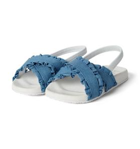 Chambray Crossover Slides