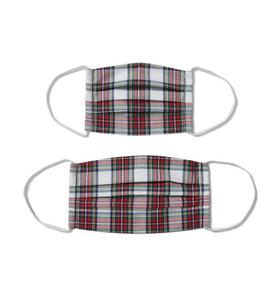 Adult And Kid Plaid Mask 2-Pack