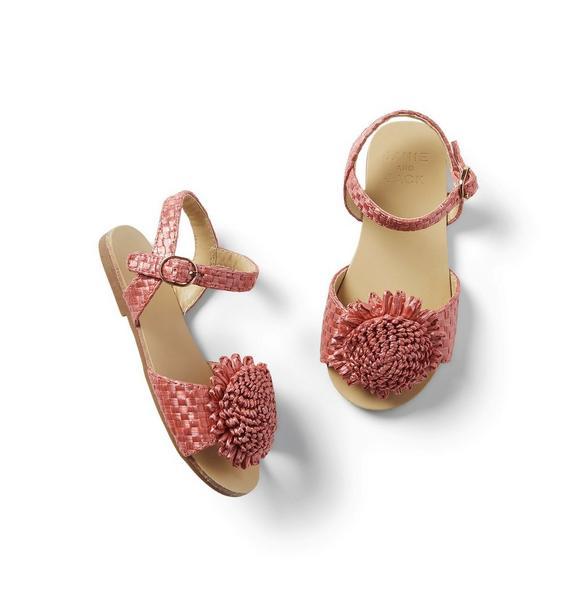 Flower Straw Sandal
