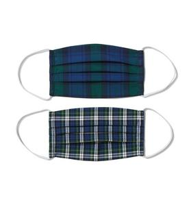 Holiday Blue Plaid Adult Mask 2-Pack