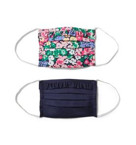 Kid Floral And Ruffle Mask 2-Pack