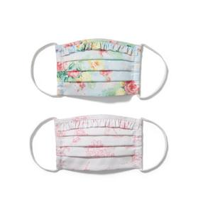 Kid Floral And Bunny Toile Mask 2-Pack