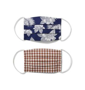 Kid Tropical Floral And Gingham Mask 2-Pack