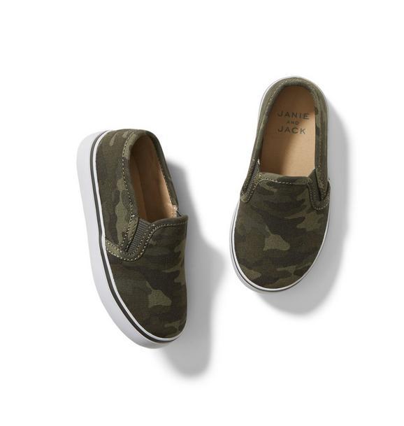 Janie and Jack Camo Slip-On Sneaker