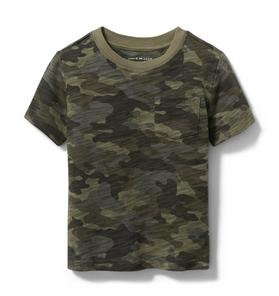 Camo Slub Pocket Tee
