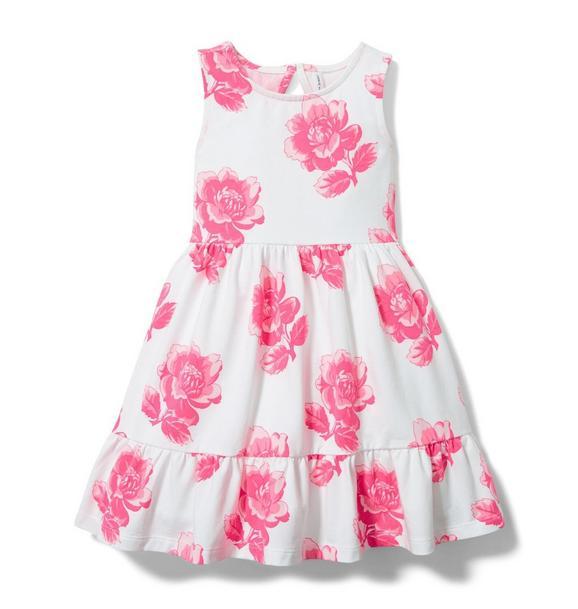 Rose Ruffle Hem Dress