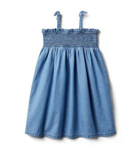Smocked Chambray Dress