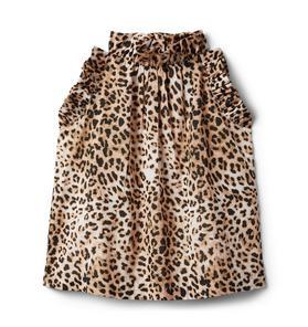 Leopard Print Ruffle Top