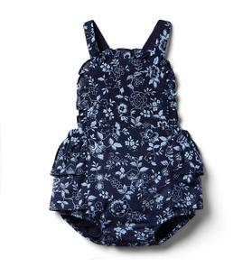 Baby Floral Ruffle Shortall