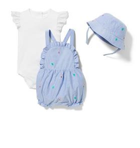 Baby 3-Piece Tropical Shortall Gift Box