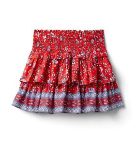 Floral Smocked Tiered Skirt